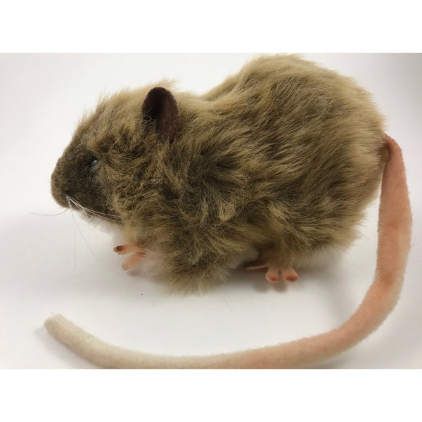 Brown Furry Realistic Plush Rat