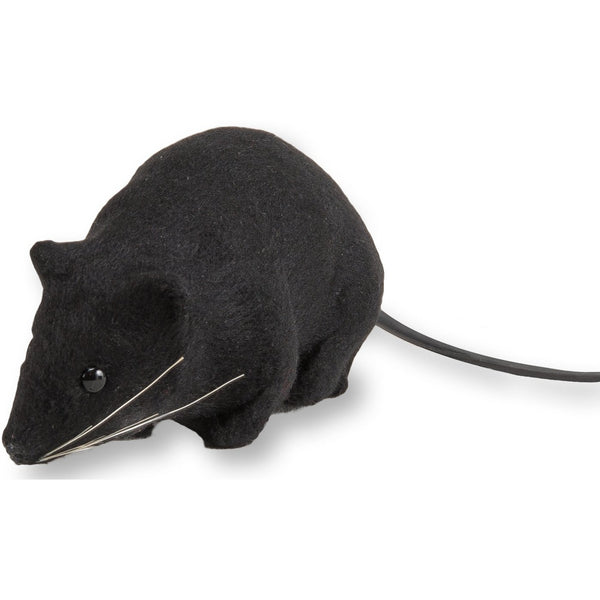 Funny Gag Gift Black Fake Rat