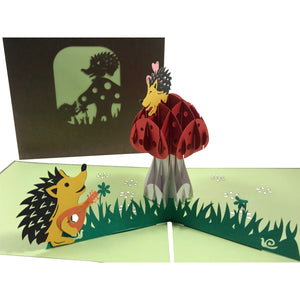 Hedgehog 3D Pop Up Greeting Card