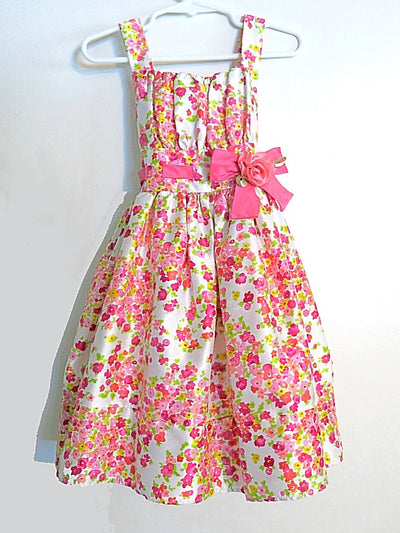 Girls Floral Tie-Back Dress