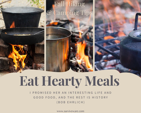 10 tips for hiking and camping in fall - Eat Hearty Meals