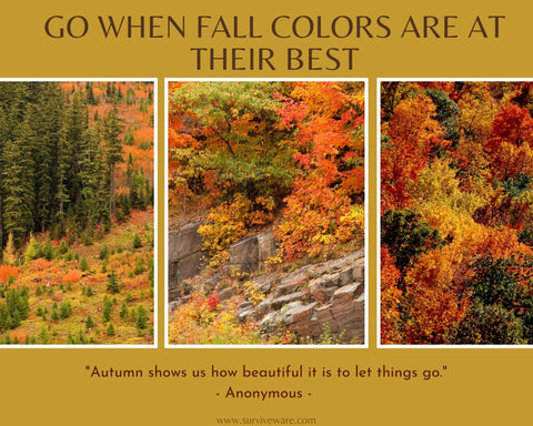 10 tips for hiking and camping in fall - go when the colors are at their best