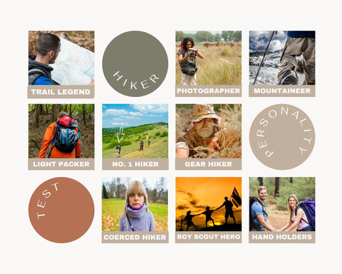 Hiking personality types