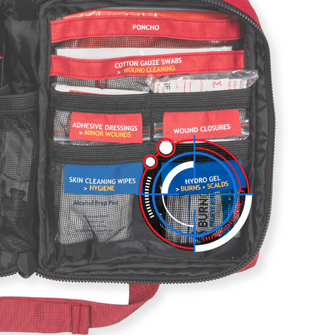 surviveware labeled first aid kit compass point
