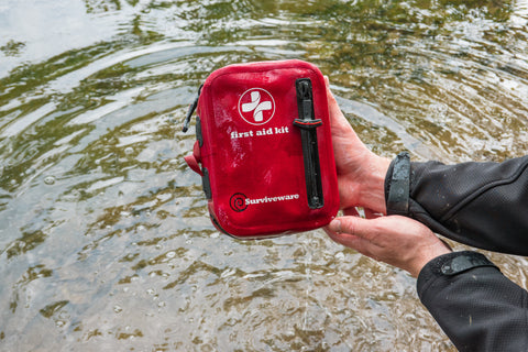 Surviveware Small Waterproof First Aid Kit for Travel and Backpackers