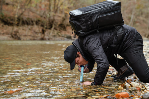Survival backpack LifeStraw