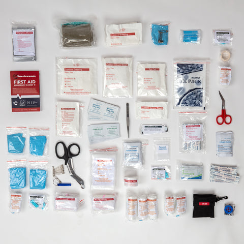 Surviveware Large First Aid Kit - All Supplies Laid Out