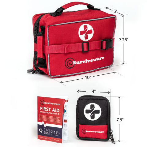 Surviveware Large First Aid Kit - Measurements