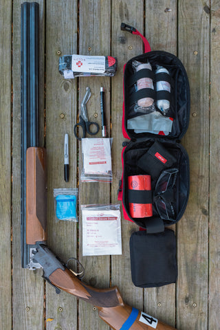 Surviveware Trauma Kit contents for hunting