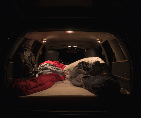 Car Camping sleeping in your car