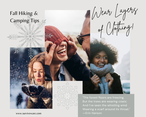 10 Tips for camping in fall - Wear layers of clothing