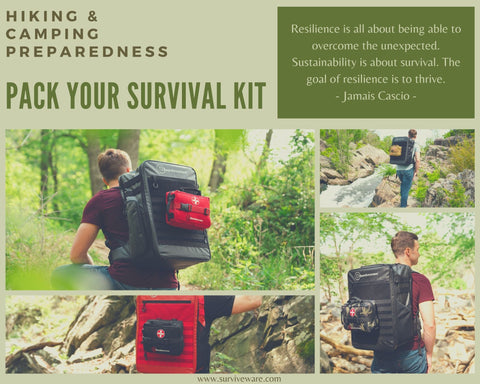 10 Tips for hiking and camping - Pack Your Survival Kit!