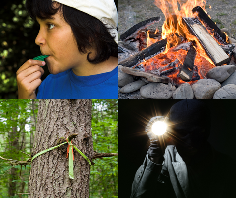 survival skills for kids - signal for help