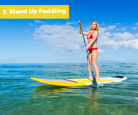 Stand up paddling SUP