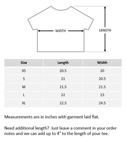 Women's Boxy Tee Size Guide