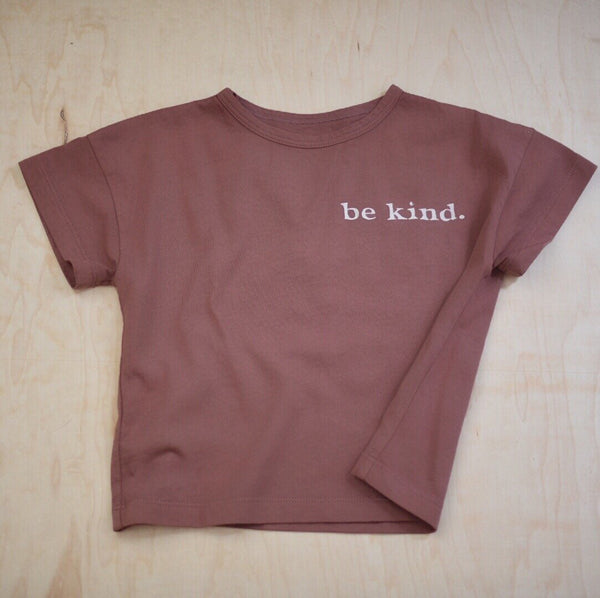 Be Kind - Kid's Boxy Tee (Red Earth)