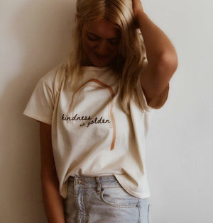 Kindness is Golden - Women's Boxy Tee