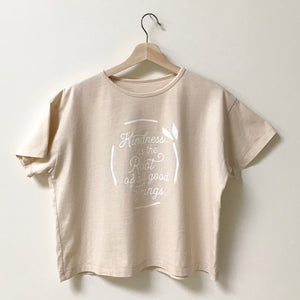 Kindness is the Root of all Good Things - Women's Boxy Tee (Ivory)