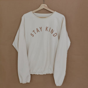 Stay Kind - Slouchy Women's Pullover (Natural)