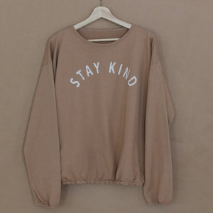 Stay Kind - Slouchy Pullover (Clay)