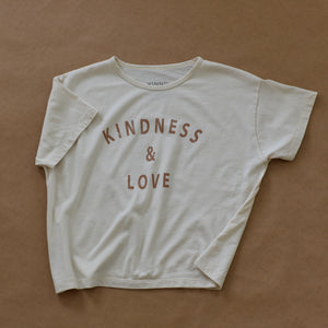 Kindness & Love - Women's Boxy Tee (Natural)