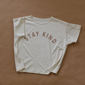 Stay Kind - Women's Boxy Tee (Natural)