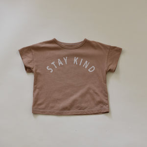 Stay Kind - Kid's Boxy Tee (Clay)