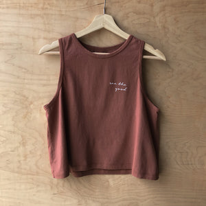 See the Good - Women's Cropped Tank (Red Earth)