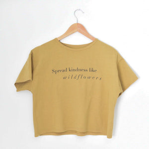Spread Kindness Like Wildflowers - Women's Boxy Tee