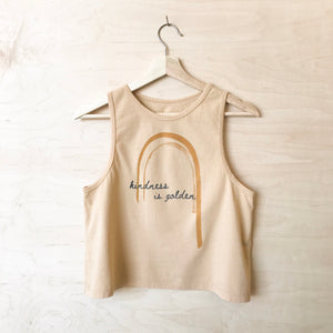 Kindness is Golden - Women's Cropped Tank (Honey)