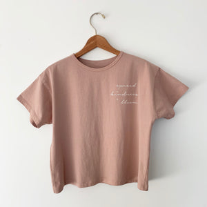 Spread Kindness and Bloom - Women's Boxy Tee (Clay)