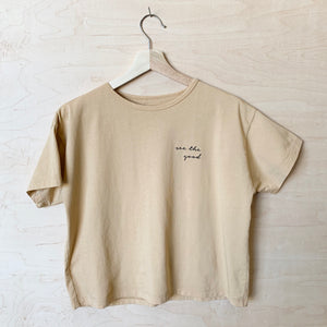 See the Good - Women's Boxy Tee (Honey)