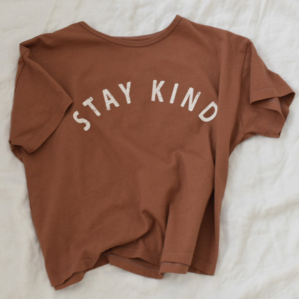Stay Kind - Women's Boxy Tee (Red Earth)