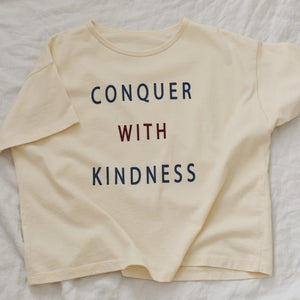 Conquer with Kindness - Women's Boxy Tee (Natural)