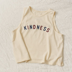 Kindness - Women's Cropped Tank (Natural)