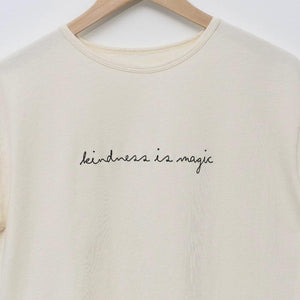Kindness is Magic - Women's Boxy Tee (Natural)