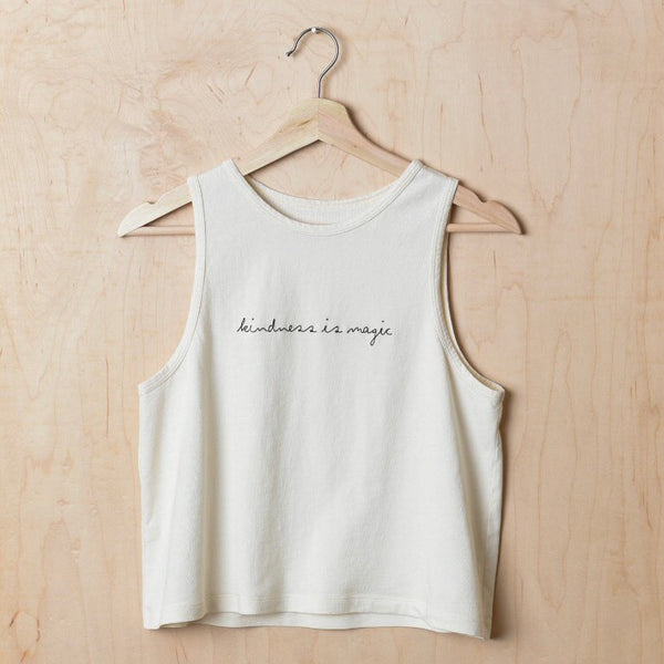Kindness is Magic - Women's Cropped Tank (Natural)