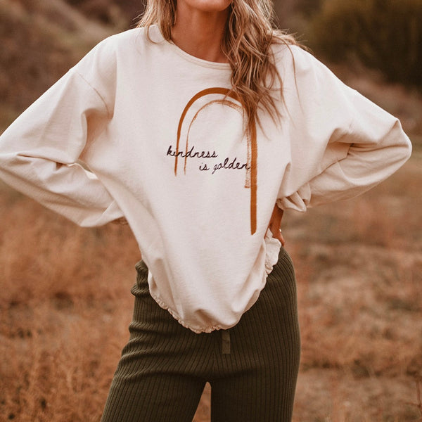 Kindness is Golden - Slouchy Women's Pullover