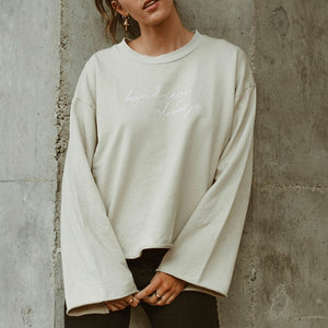 Kindness Always - Slouchy Women's Sweatshirt (Oat)