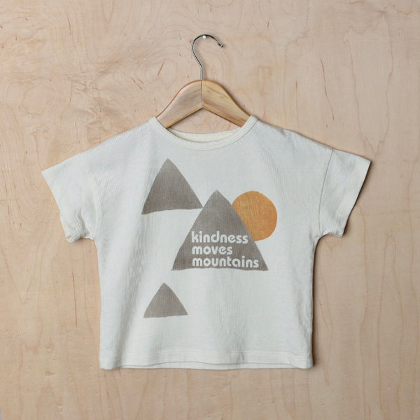 Kindness Moves Mountains - Kid's Boxy Tee