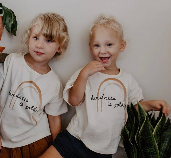 Kindness is Golden - Kid's Boxy Tee
