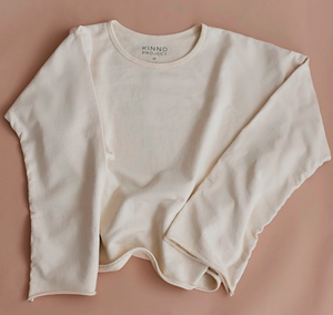 Women's Raw Edge Sweatshirt (Natural)