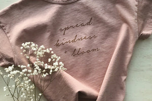 Spread Kindness and Bloom - Kid's Boxy Tee