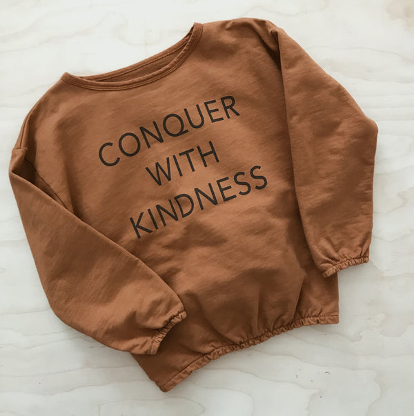 Conquer with Kindness - Kid's Slouchy Sweatshirt
