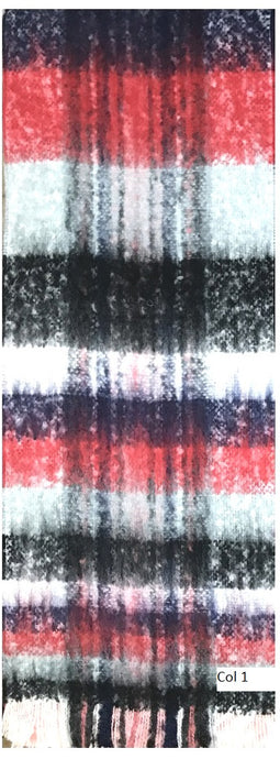 Scarf in Polychromatic Colour Pattern