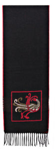 Scarf with Celtic Bird Motif