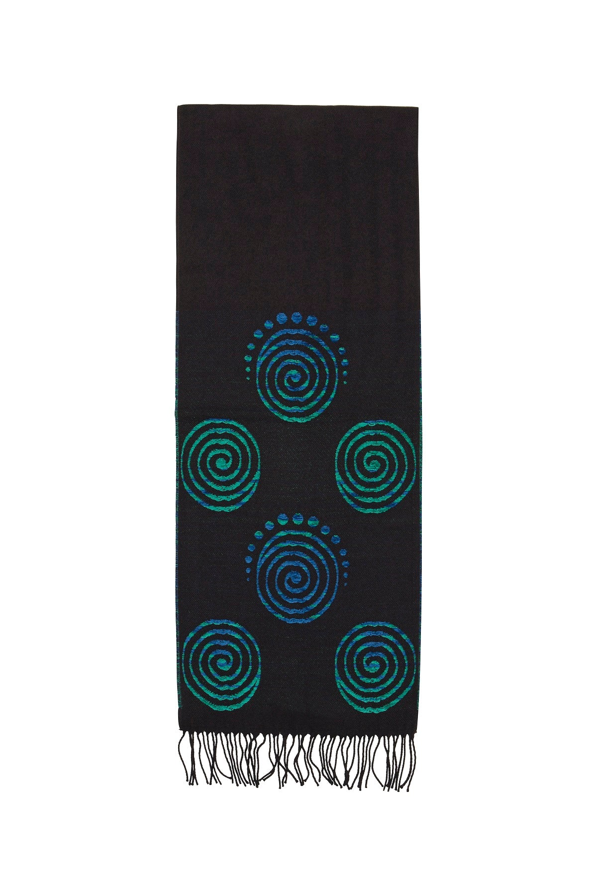 Scarf with Celtic Spiral Motif