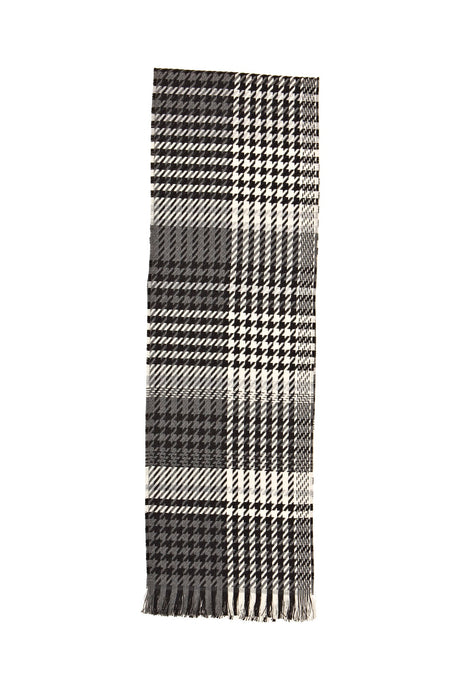 Black/White/Charcoal Plaid Scarf