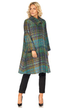 Shortie Swing Coat in Surface Interest Donegal Tweed