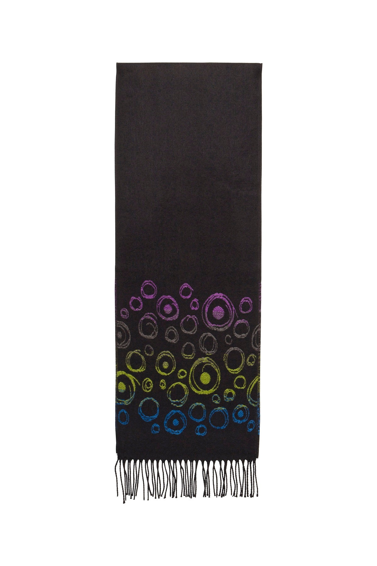 Scarf with Bubbles Motif
